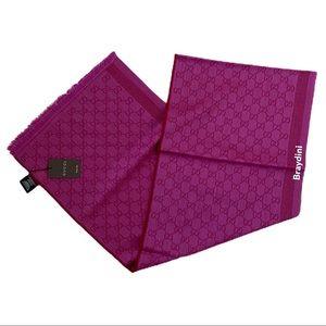 NWT $590 Gucci Pink Wool Silk Scarf**